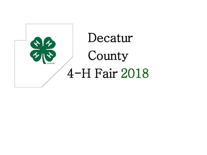 Logo for 2018 Decatur County Fair