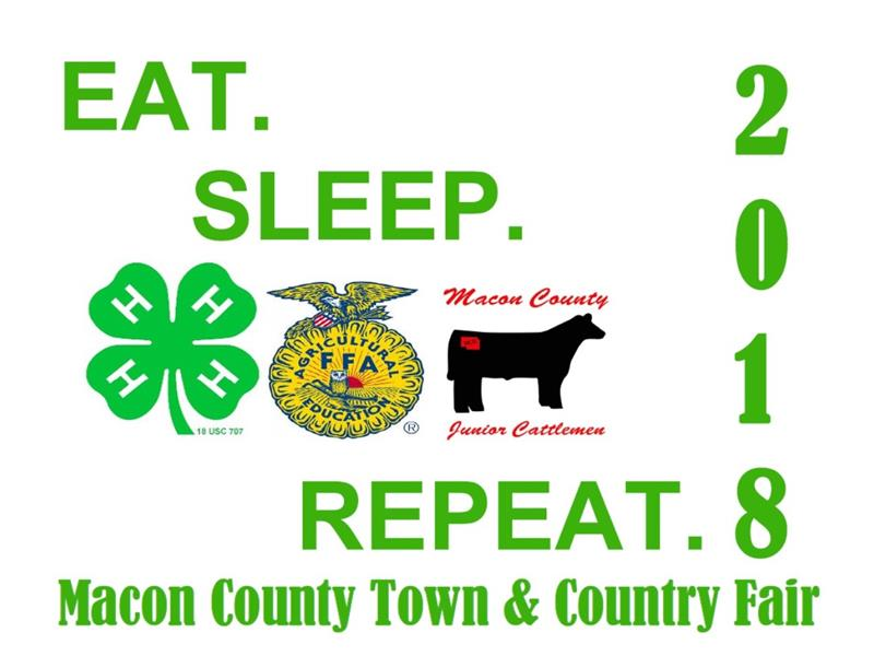 Logo for 2018 Macon County Town and Country Fair