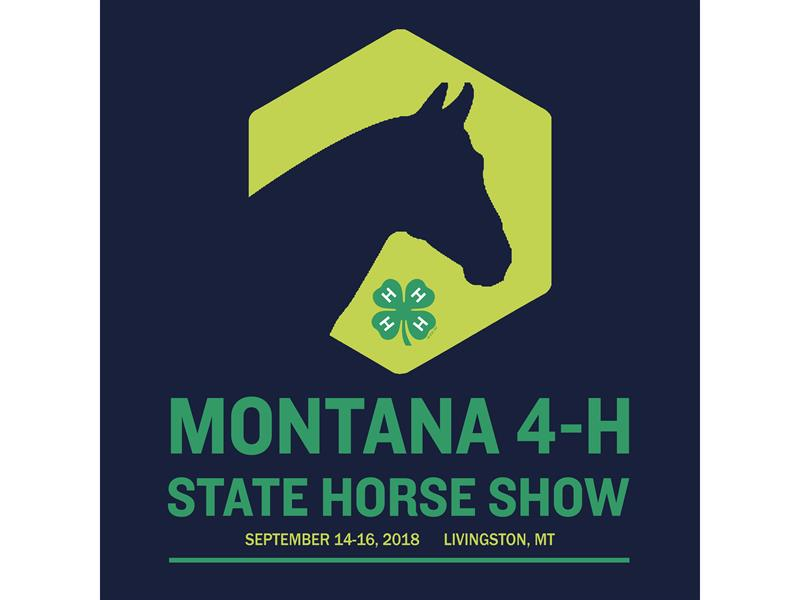 Logo for 2018 Montana 4-H State Horse Show
