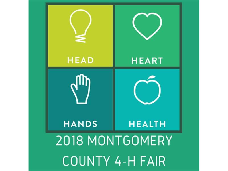 Logo for 2018 Montgomery County 4-H Fair