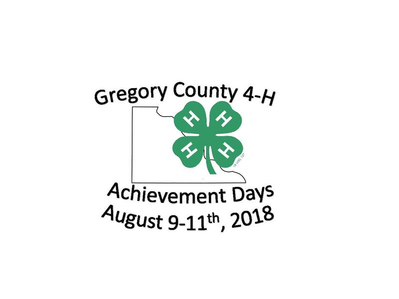 Logo for 2018 Gregory County Achievement Days