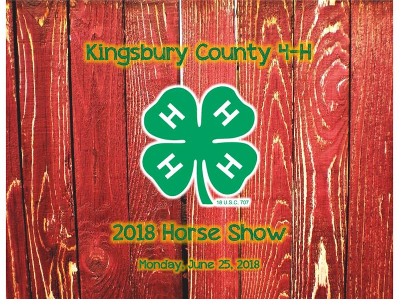 Logo for 2018 Kingsbury County Horse Show