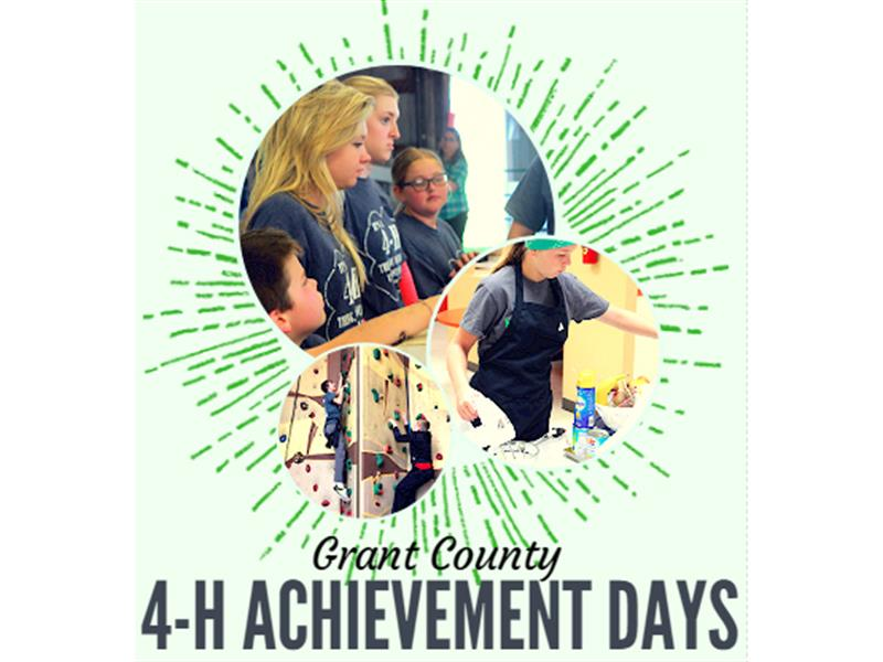 Logo for 2018 Grant County 4-H Achievement Days