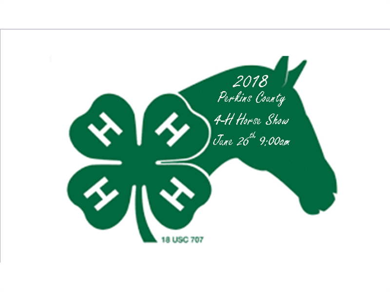 Logo for 2018 Perkins County 4-H Horse Show