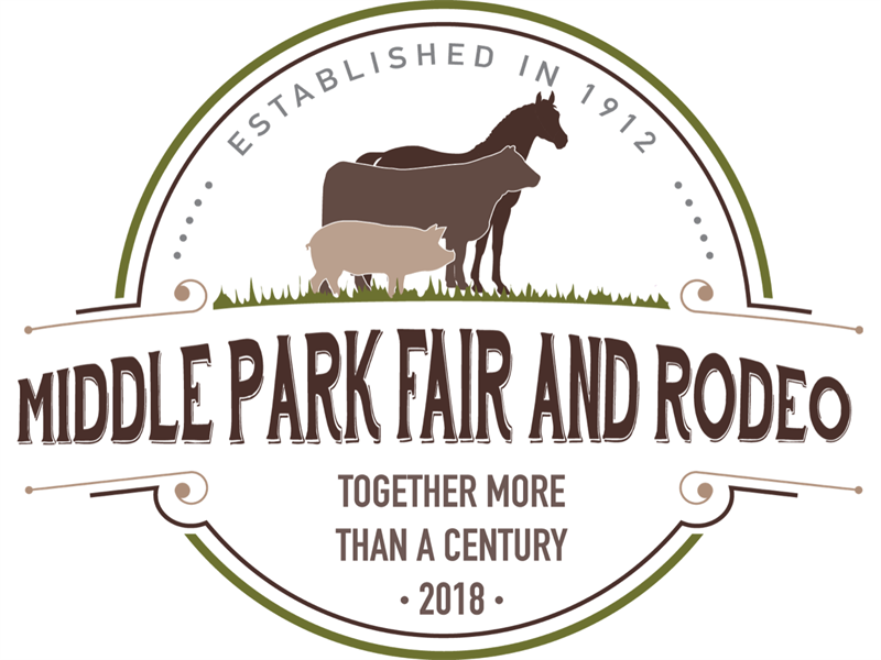 Logo for 2018 Middle Park Fair and Rodeo